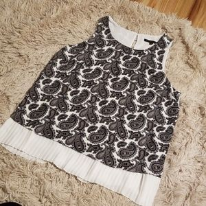 Mod Black & White Dress Tank